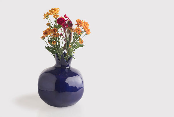 Pomegranate Vase – Azure