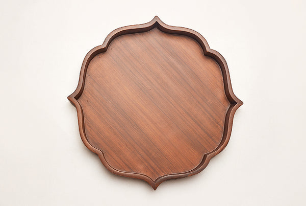 Mehrab Wooden Tray – Walnut