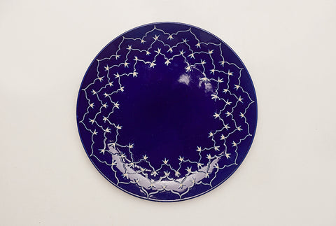 Temple Dinner Plates- Cobalt Blue