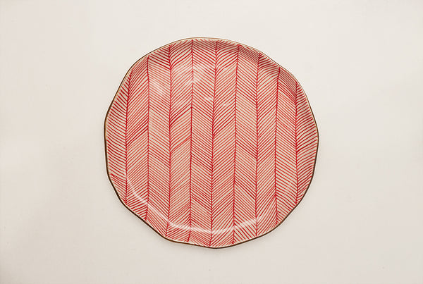 "Chevron Presidential 10"" Plate - Red"