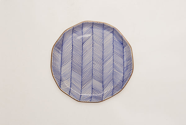 "Chevron Superior 8.5"" Plate - Blue"
