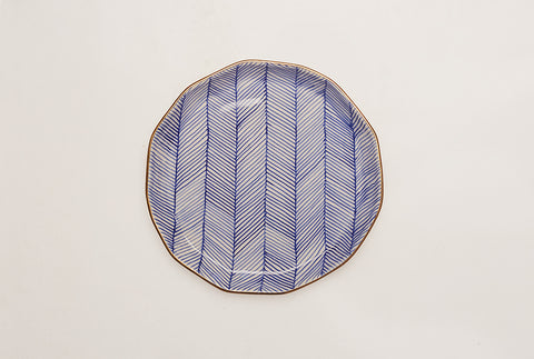 "Chevron Superior 8"" Plate - Blue"