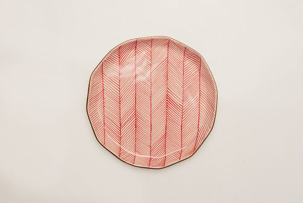 "Chevron Superior 8.5"" Plate - Red"