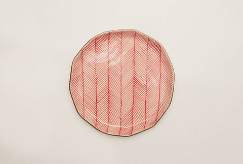 "Chevron Superior 8"" Plate - Red"