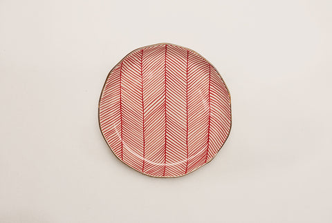 "Chevron Club 7"" Plate - Red"