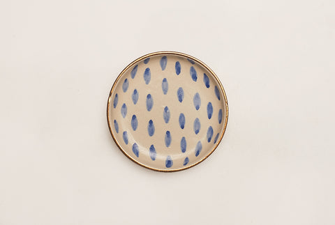 Oval Dotted Trinket Dish
