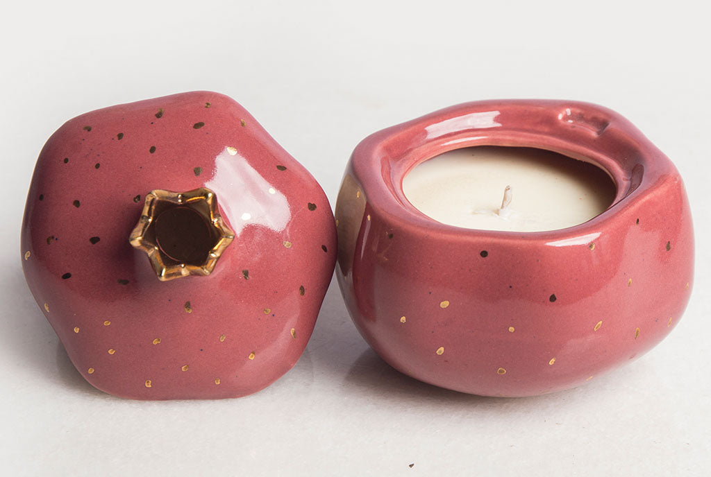 Pomegranate Amber Candle – Marsala