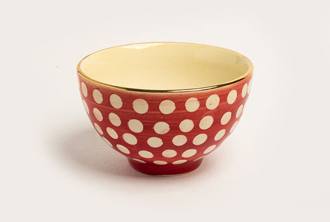 Polka Farm Bowl - Red