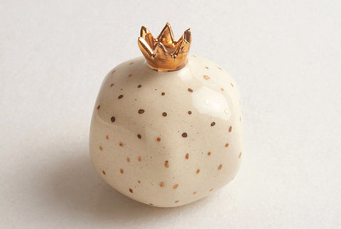 Pomegranate Decor Small- Ivory