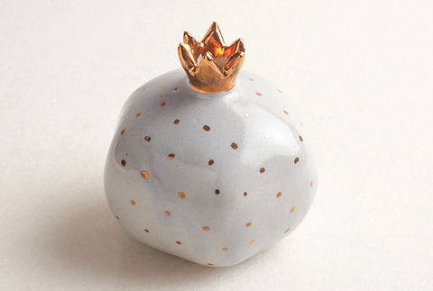 Pomegranate Decor Small- Powder Blue