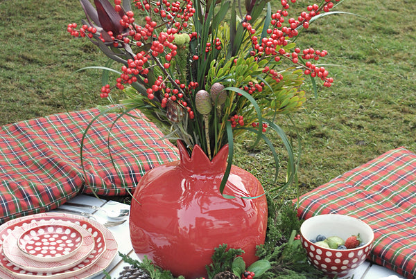 Pomegranate Vase - Red