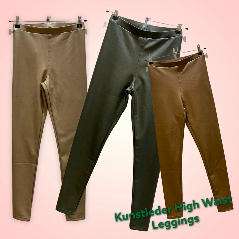 Kunstleder High Waist Leggings