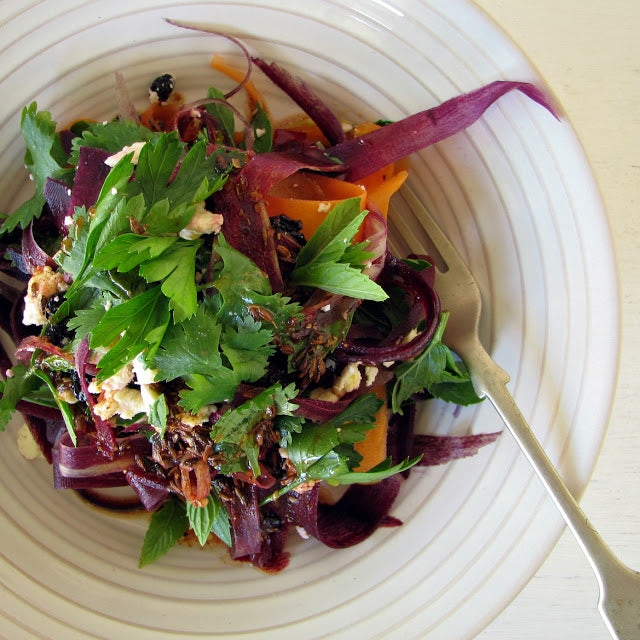 Purple Carrot Salad with Feta