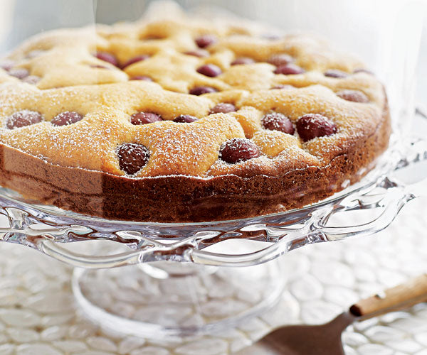 Polenta Cake with Red Grapes