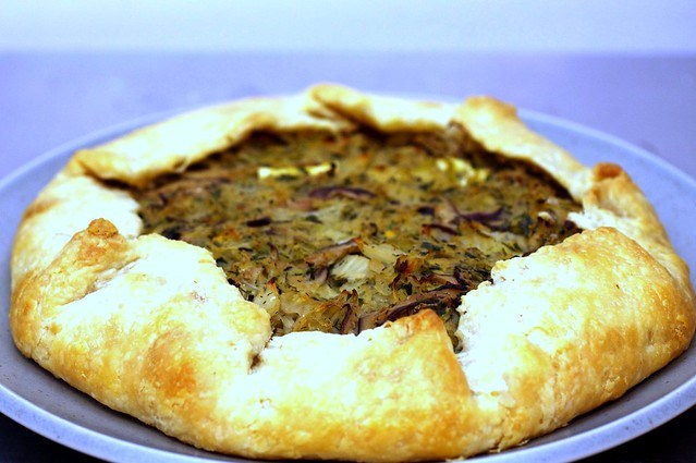 Cabbage and Mushroom Galette