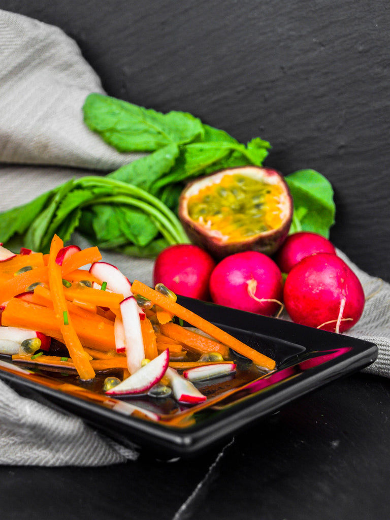 Carrot and Radish Salad With Passion Fruit Dressing