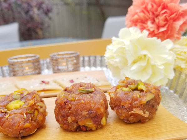 Saffron-infused Rustic Apple Peda | Indian sweet
