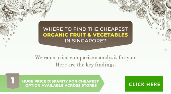 Infographics : price comparison of organic fresh fruit & vegetables in Singapore in 2020