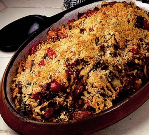 Gratin of White Cabbage and Lentil