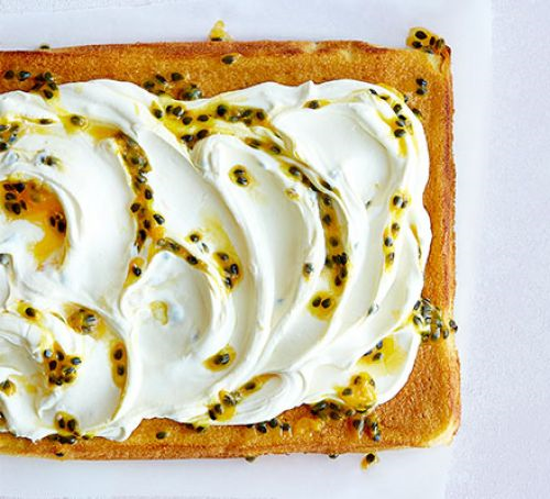 Orange and Passion Fruit Traybake
