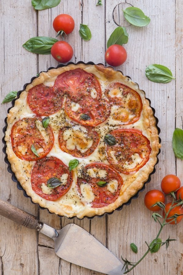 Italian Cheese and Tomato Pie