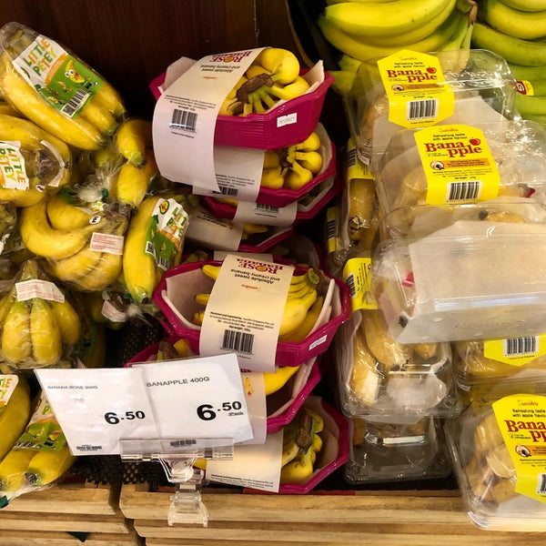 Cold Storage plastic bananas