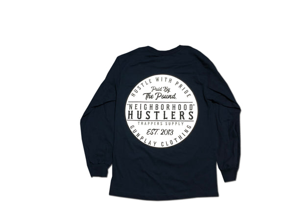 Neighborhood Hustlers Long Sleeve - Navy