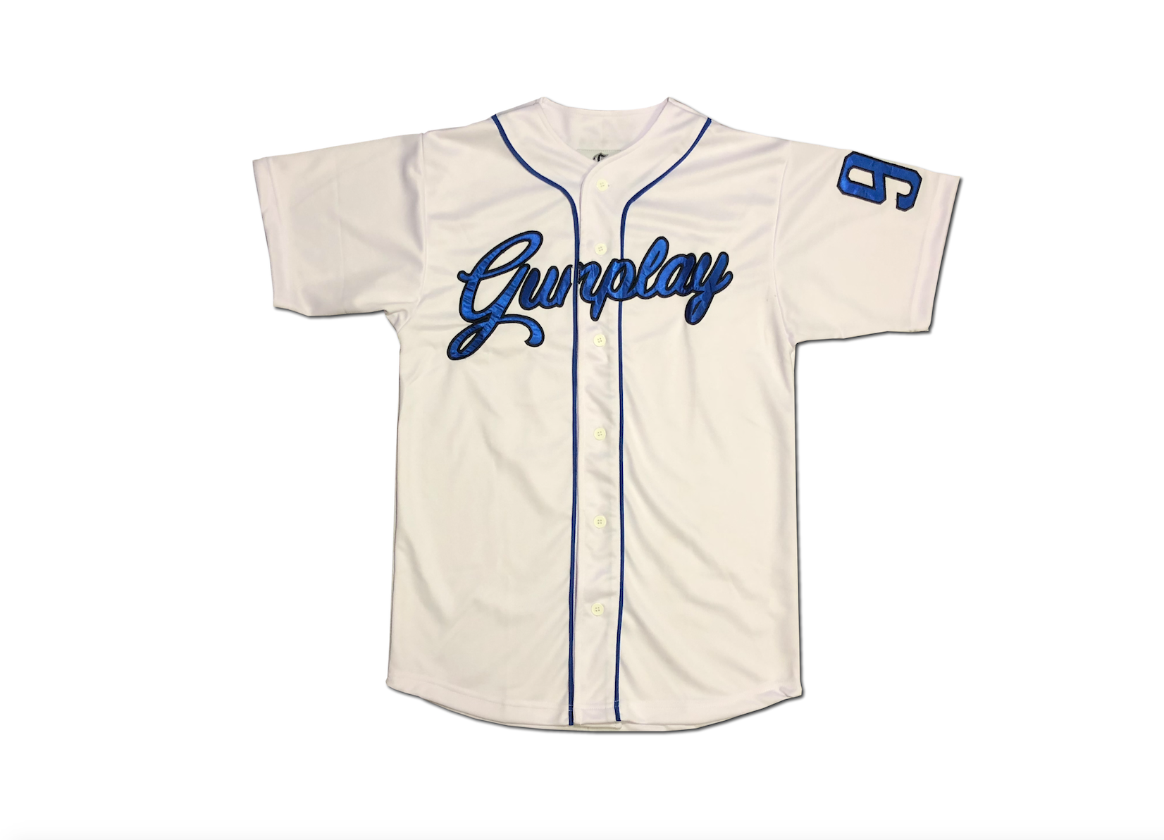 Royal Baseball Jersey - White
