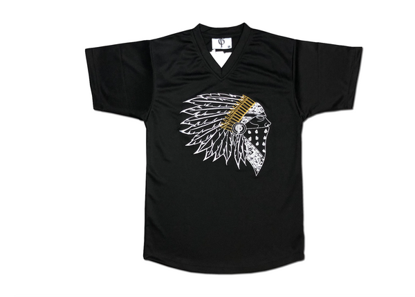 Chief V-Neck Jersey - Black