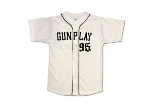 Original Gunplay 95 Baseball Jersey - White