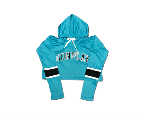Crop Hockey Jersey - Teal/Black/White