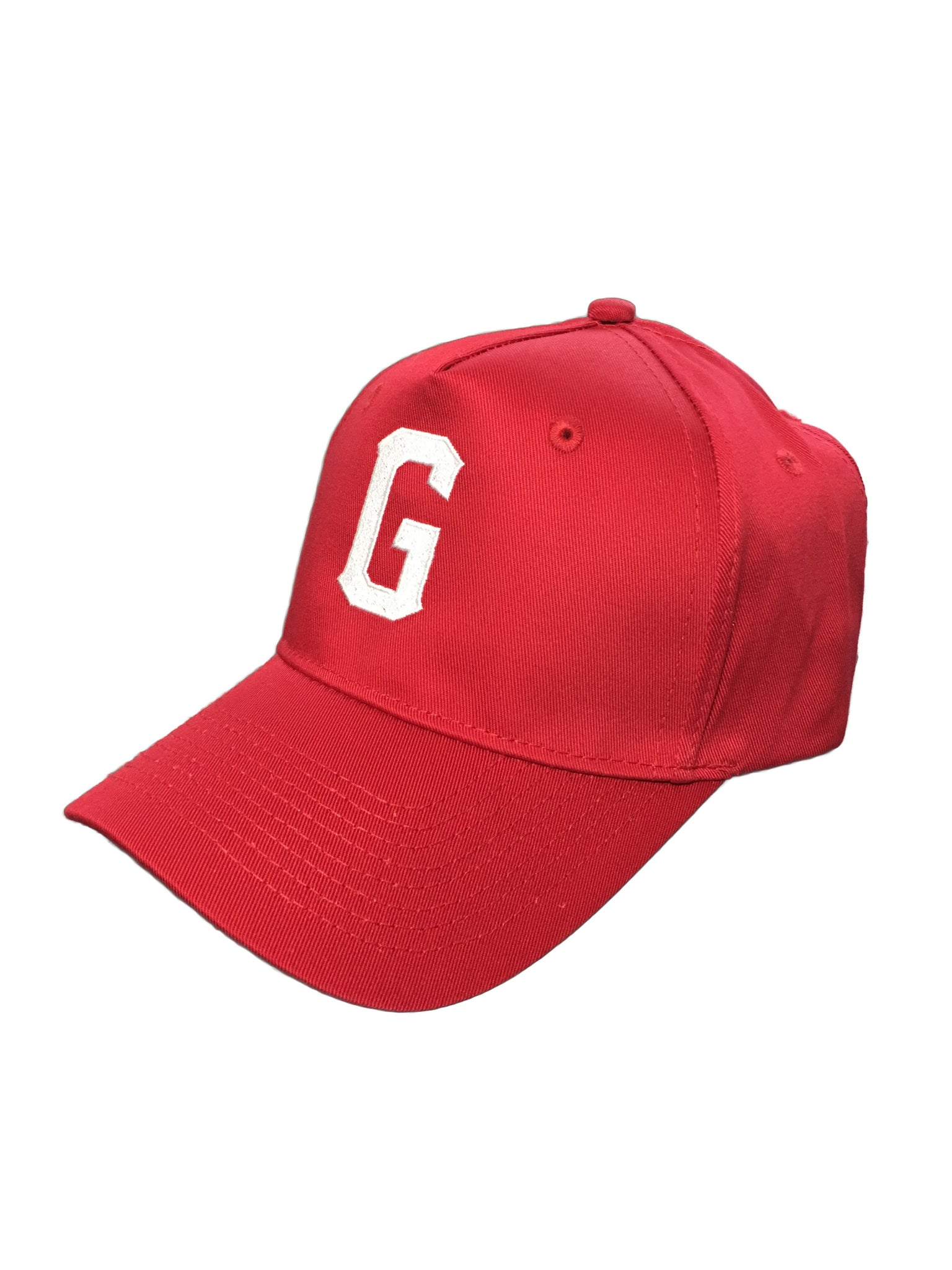 """G"" Logo Baseball Cap - Red"