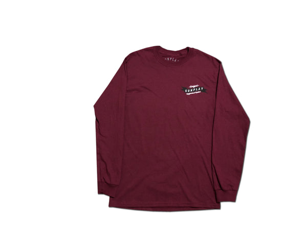 Neighborhood Hustlers Long Sleeve - Burgundy