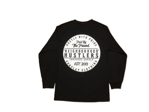 Neighborhood Hustlers Long Sleeve - Black