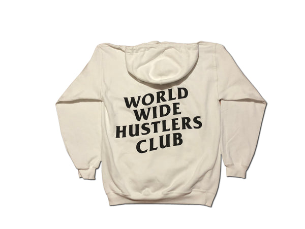 Worldwide Hustlers Club Hoodie - White
