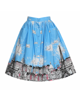'Contessa' Blue Venice Border Skirt 'Contessa'