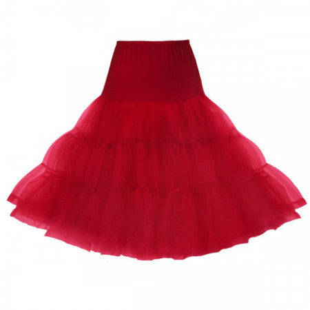"Classic 26"" Net Mesh Tulle Red Petticoat size 16/22"