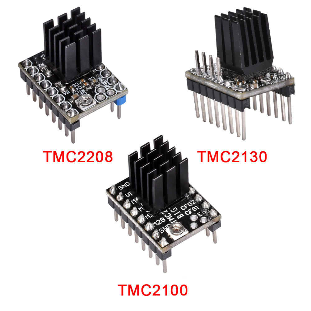 New Arrival Tmc2100 Tmc2208 Tmc2130 Stepper Driver Support Spi Model Silent Drive Wiring Diagram Feature Color Black Version V11 Function Stepstick Mute Microsteps 256 Size 15 X 20mm Use For 3d Printer Parts