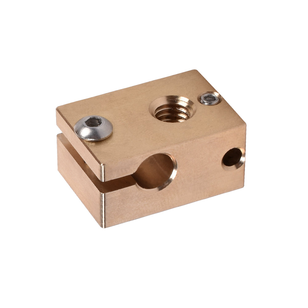 BIQU V6 brass Heater Block  PT100 3D Printer Parts For E3D V6 Hotend J-head BMG Extruder Titan