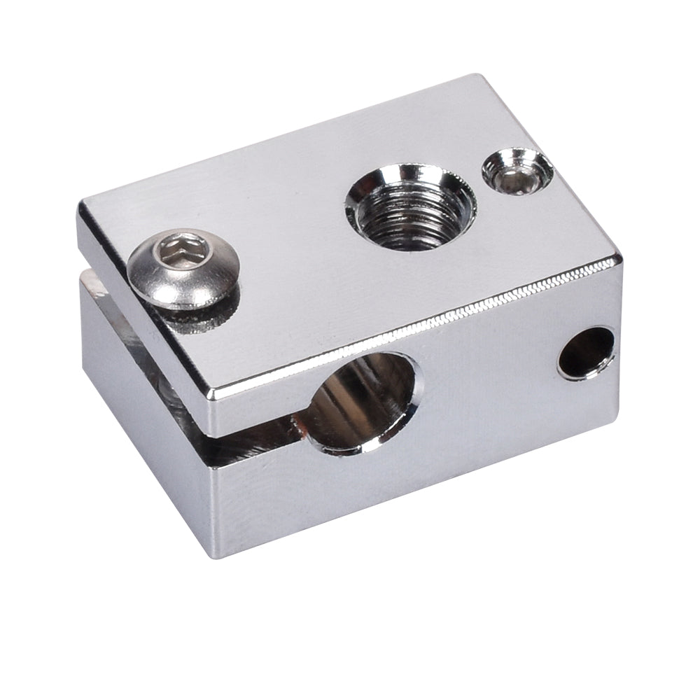 BIQU V6  Copper  Heater Block  PT100 3D Printer Parts For E3D V6 Hotend J-head BMG Extruder Titan