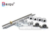 L300mm 330mm 400mm 500mm D8mm 8mm Horizontal Double Track Lead Screw Coupling Bearing & Linear Shaft Optical Axis Bearing Set - Biqu.Store