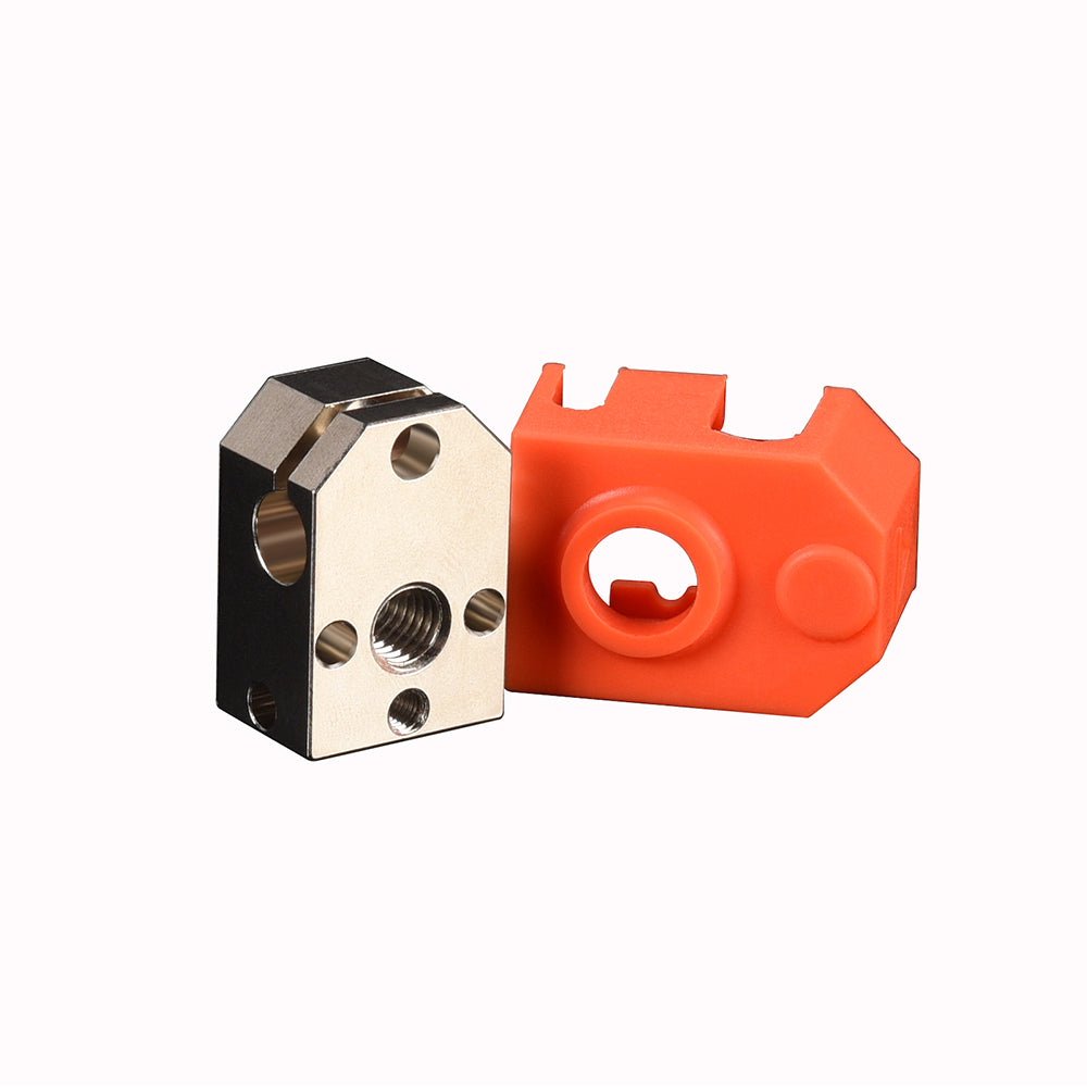 BIQU Phaetus Plated Copper Dragon Heater Block With Silicone sock 3d printer part for For Dragon Hotend J-head Extruder 3D Printer Parts PT100