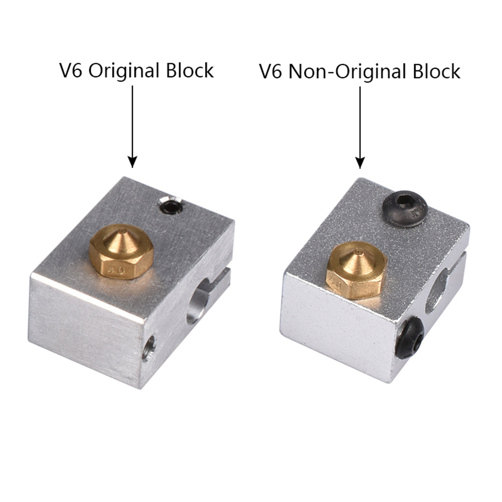 Optional E3D V6 J-head All-Metal Aluminium Heat Block  For 3d printer  HotEnd with  20mm*16mm*12mm