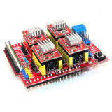 4x A4988 Stepper Motor Driver with Heat Sink + CNC Shield Expansion Board for Arduino V3 Engraver New