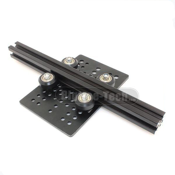 C-beam DIY Openbuilds Slider For v-slot Gantry Plate Big +Openbuilds Isolation Column+Plastic wheel with Bearings  Pulley