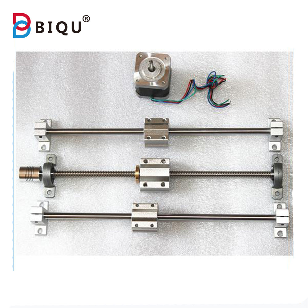 Sliding Table parts RepRap 3D Printer THSL-300-8D T-type T8 Lead Screw +Copper Nut +Nema17 Stepper Motor 42+8MM Axis+SC8UU - Biqu.Store