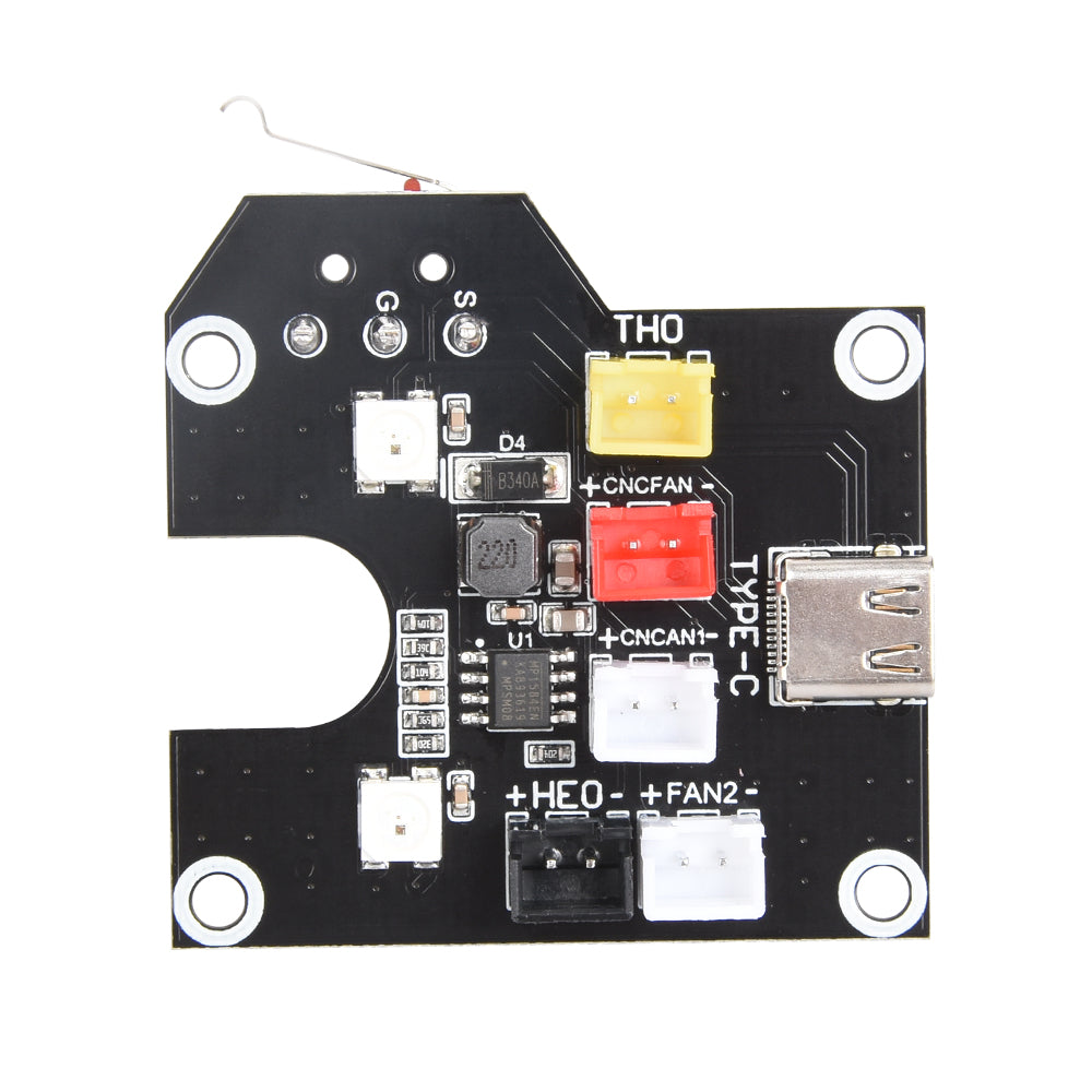 BIGTREETECH B1 HOTMODE V1.0 LED Adapter Board With TYPE-C Interface Installation in the nozzle-integrated nozzle wiring For B1 printer