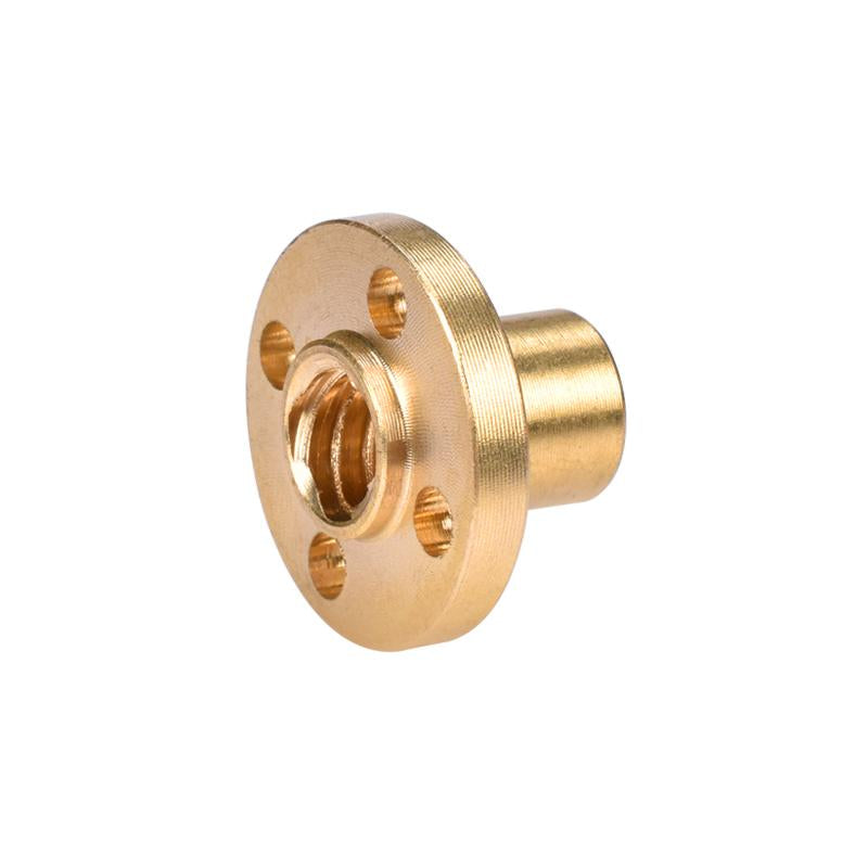 Copper Trapezoidal Screw Nut for T8 Screw T8 nuts stepper motor, rail screw