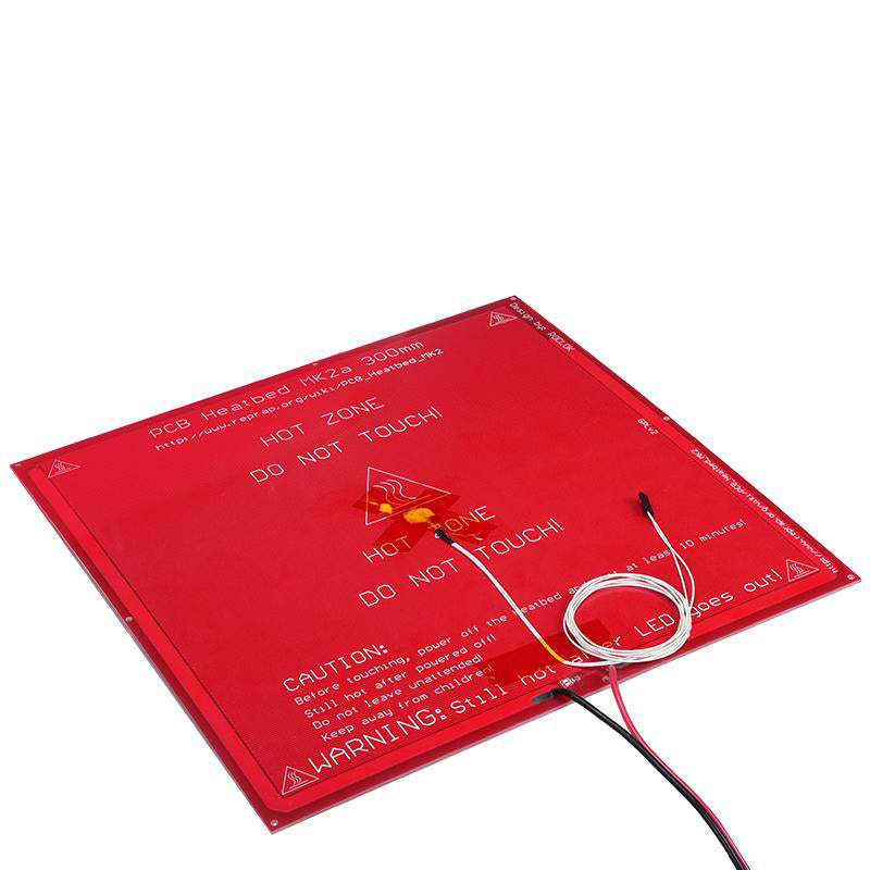 3D printer heat bed MK2A 300*300*2.0mm 12v RepRap RAMPS 1.4 PCB  Heat bed Hot Plate For Prusa & Mendel For 3D Printer MK2B thermistor bed - Biqu.Store