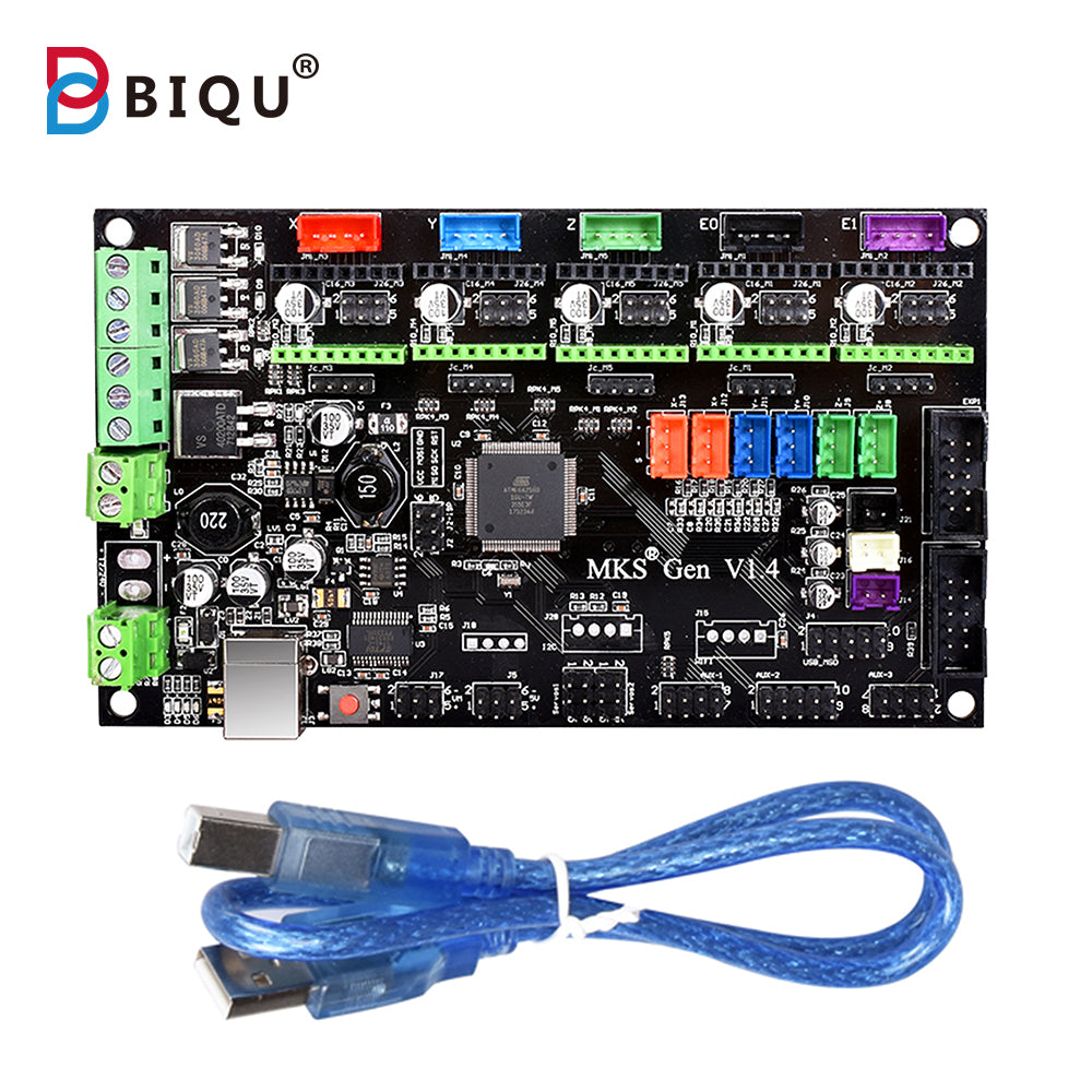 Latest 3D printer MKS Gen V1.4 control board Mega 2560 R3 motherboard RepRap Ramps1.4 compatible with USB